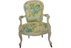 Antique Rococo Arm Chair/ Accent Chair on Cabriole Legs & Caster Wheels. $649.00, via Etsy.