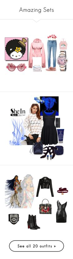 """""""Amazing Sets"""" by wannabefamous212 ❤ liked on Polyvore featuring Schick, M2Malletier, Cartier, Givenchy, Puma, Kiehl's, Motel, Tabitha Simmons, Mansur Gavriel and Forest of Chintz"""