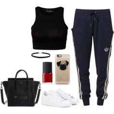 Sans titre #518 by charliesclothes on Polyvore featuring moda, Club L, adidas, Casetify and NARS Cosmetics