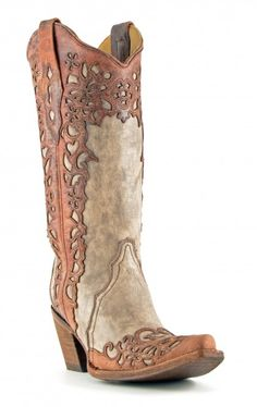 Women's Corral Laser Sand and Cognac #A2665