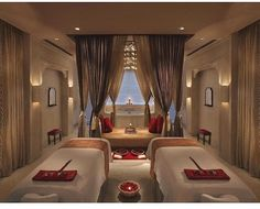 Couple massage room? If only where the window is, that was the ocean. it would be so perfect