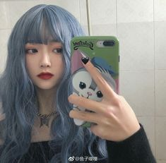 Green Hair, Blue Hair, Girl Hair Colors, Ulzzang Korean Girl, Uzzlang Girl, Coloured Hair, Aesthetic Hair, Dye My Hair, Grunge Hair