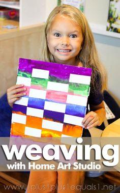 Home Art Studio 1st Grade Project ~ Weaving