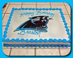 Carolina Panthers sheet cake :)