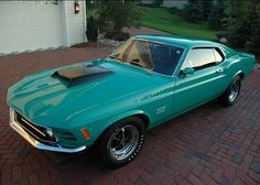 Just look at that color (: 1969 Ford Mustang BOSS 429 Fastback
