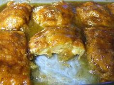 Apple Dumplings ---- easy, peasy recipe made with canned crescent rolls, apple wedges, in a sweet sauce using Mountain Dew soda. Here's mine! Cresent Roll Apple Dumplings, Apple Cresent Rolls, Apple Dumpling Recipe, Crescent Rolls, Cresent Roll Dessert Recipes, Crescent Roll Recipes, Mountain Dew, 13 Desserts, Delicious Desserts
