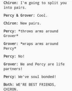 It makes me sad that everyone kinda forgot about the OG bromance and everyone talks about Jason and Percy. :/