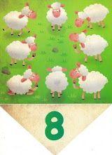 vlaggenlijn met getallen voor kleuters 8