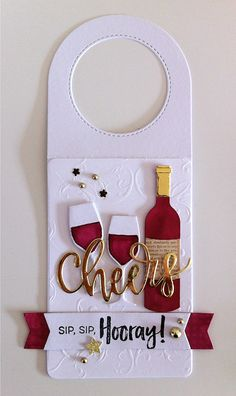 Card tag bottle glass glasses wine bottle tag MFT Wine tag Die-namics, MFT Wine service Die-namics, MFT Cheers Die-namimcs scripty words and letters, MFT Uncorked stamp set - JKE bottle Crafts with label Wine Bottle Tags, Wine Tags, Wine Bottle Crafts, Handmade Tags, Christmas Gift Tags, Wine Gifts, Card Tags, Cardmaking, Stamping