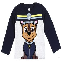 Nick Jr Paw Patrol Chase The Police Dog Long Sleeve Toddler Boys Shirt Sizes - Toddler Boys Winter Clothes Ships In Business Days Boys Winter Clothes, Boys And Girls Clothes, Baby Boy Fashion, Kids Fashion, Nick Jr Paw Patrol, Boys Shirts, Toddler Boys, Boy Outfits, Colorful Shirts