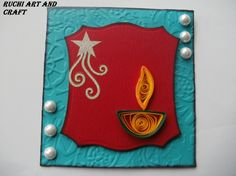 DIWALI CARD - Indian Craft Room Diwali Craft For Children, Holiday Crafts For Kids, Easy Crafts For Kids, Diy Diwali Gifts, Corporate Diwali Gifts, Diy Gifts, Diwali Cards, Diwali Greetings, Chinese Crafts