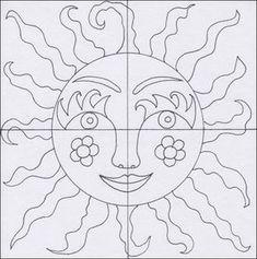 Slunce – teplé a studené barvy Boho Diy, Boho Decor, Decor Crafts, Diy And Crafts, 3rd Grade Art, Sun Art, Mexican Folk Art, Summer Art, Creative Art