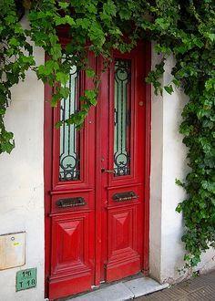 beautiful red doors