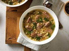 Beef Barley Soup with Spinach --  I'm not sure if I like Barley? Not sure I don't?