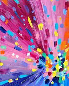 Pink paint explosion!  Sarah Coey Art
