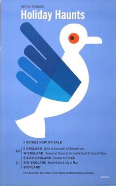 Tom Eckersley, British Rail poster, 1961