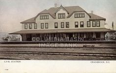 Cranbrook C.P.R. Station in 1905 - this building remains the Cranbrook C.P. Rail Station today but its appearance is very different from that in this photo. : Columbia Basin Institute of Regional History