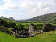 castell wales | Castell y Bere, with view toward Bird Rock ( Craig Aderyn ) and the ...