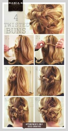 Four Twisted Buns - Appointments Only 0333-3656183  #rabiasalon‬ ‪#spa‬ ‪#haircut‬ ‪#hairdo‬ ‪#hairstyling‬ ‪#hairexperts‬ ‪#professionals‬ ‪#hairgloss‬ ‪#xtenso‬ ‪#chitransformation‬