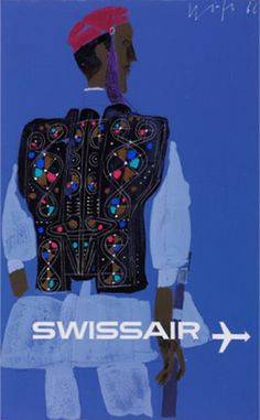 Design is fine. History is mine. — Kurt Wirth, original drawings for Swissair poster,...