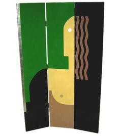 Donald Deskey, three panel screen, 1930.