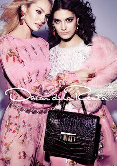 Candice Swanepoel & Katryn Kruger for Oscar de la Renta Fall Winter 2012-13   Photoshoot