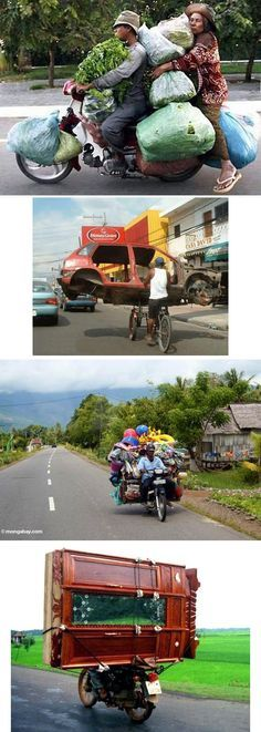 Hauling trash is best done by the pros. Here are 14 perfect examples of why hauling your own trash may not always be a good idea. Crazy People, Funny People, Trash Hauling, Funny Photos, Cool Photos, Bizarre, Weird Pictures, Humor, People Around The World