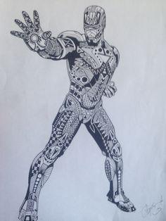 Iron man zentangle. 2015