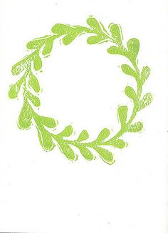 wreath | New design - - hand block printed | Molly Broadley | Flickr