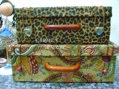 Reciclagem: maleta feita com caixa de sapato tutorial