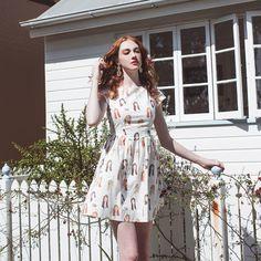 Miss Daydream Dress - Original Print by alicenightingale on Etsy https://www.etsy.com/listing/246892313/miss-daydream-dress-original-print