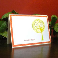 Handmade Green Tree Thank You Card Pack of 10 by From The Earth. $15.95. Handmade in Jordan. Supports Fair Trade. Cards are 10 cm x 15 xm (4 in x 6 in). Our lovely greeting cards are hand made by an artistic team of Jordanian women. The card is blank on the inside and comes with a quality envelope, sealed in a clear plastic sleeve. This card pack includes ten identical cards.