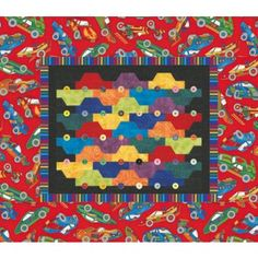 Rush Hour Quilt Pattern: Paper pieced tessellating cars