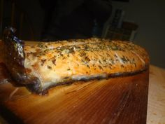 Cedar Plank Salmon W/ Rosemary and Garlic