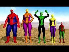 Finger Family Collection - Spiderman Finger Family Song - YouTube