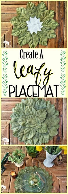 Create a Leafy Placemat with these steps.