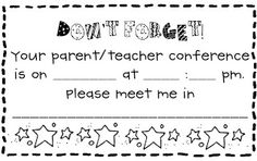 Parent Teacher Conference Forms {Free Printables} | Living Laughing & Loving