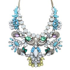 2015 Brand New Fashion Arrival Trend Drop Design Royal Queen Necklace Luxury Crystal Necklace