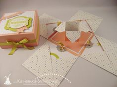 Explosionsbox mit Anleitung Stampin Up Sale a Bration