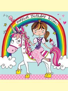 Unicorn and Princess Jigsaw Birthday Card