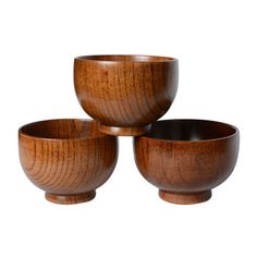 Japanese Style Handmade Wooden Rice Soup Salad Bowls 9.5 * 6.7CM 1pc in Home & Garden, Kitchen, Dining & Bar, Dinnerware & Serving Dishes | eBay
