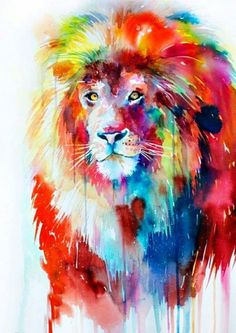 Lovely Lion Painting
