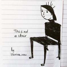 Ceci n'est pas une chaise - This is not a chair #cecinestpasunechaise #artistsoninstagram #art #drawing #sketch #sketchbook #illustration #instaart #chair #chaise #artistsmuseum #myart #handdrawn