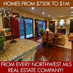 One click to see ALL HOMES in Thurston County, WA  between $750,000 and $1 Million currently listed as AVAILABLE from EVERY NWMLS real estate company.