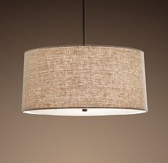 """[Restoration Hardware] Round Linen Shade Pendant: 20"""" for $318 or 26"""" for $393"""