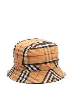 edd16bfa Burberry Checked cotton bucket hat Beige, Burberry Men, Vintage, Bucket Hat,  Baseball