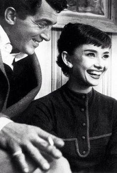 """theniftyfifties: """"Dean Martin and Audrey Hepburn """""""