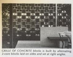 using concrete block stacked creatively to create semi-open screens (beer garden)