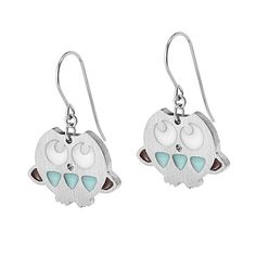 Look what I found at UncommonGoods: Blue Owl Earrings for $60.00