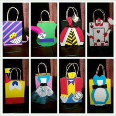 Alice in Wonderland Inspired favor bags by Fabulouspprcreations, $36.00